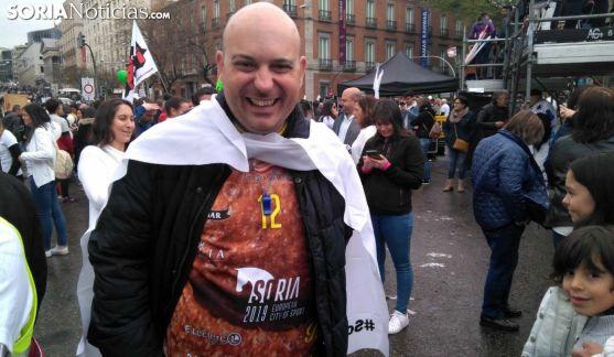 Juanjo Delgado, este domingo en la Revuelta de la #EspañaVaciada. /SN
