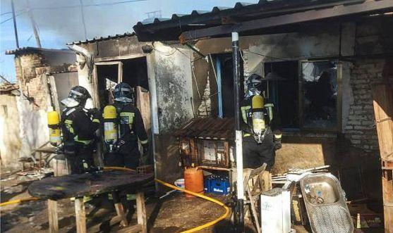 Imagen del inmueble incendiado. /Bomberos León