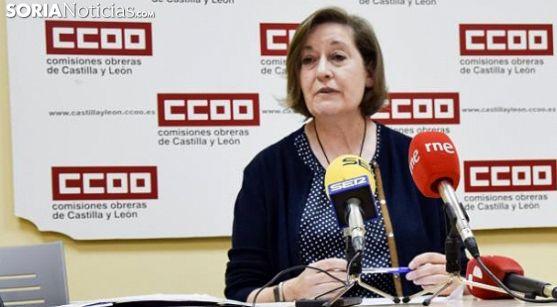 María Jesús Sotillos, responsable del área sanitaria de CCOO en Soria. /SN