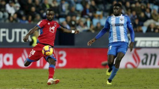 Málaga-Numancia, en La Rosaleda (2-0). LaLiga