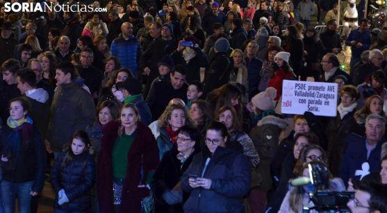 Una imagen de la multitudinaria manifestación de la Soria Ya el 28 de diciembre pasado. /SN
