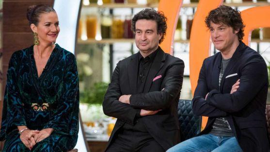 Samantha Vallejo, Jordi Cruz y Pepe Rodríguez, jurados de MasterChef. RTVE