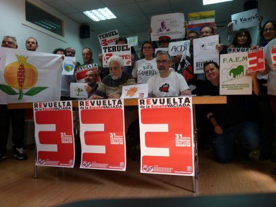 Presentación de la Revuelta de la España Vaciada en Madrid.