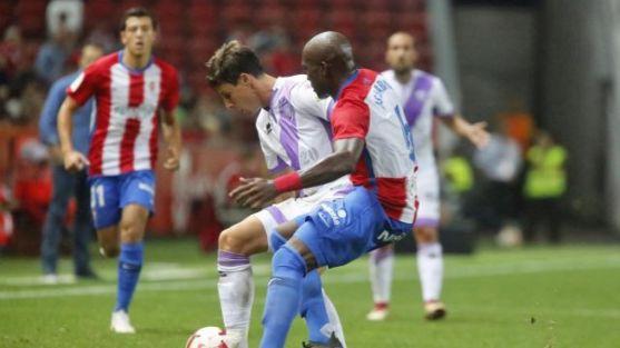 El Numancia arañó un punto (1-1) en El Molinón durante la ida. LaLiga