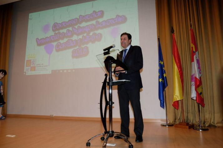 Carlos Fernández Carriedo durante la entrega de premios.