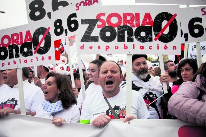 Imágenes de la manifestación de la Soria Ya en MAdrid