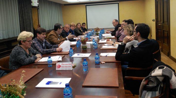 Imagen de la reunión con responsables de la PPSO en la provincia. /CC