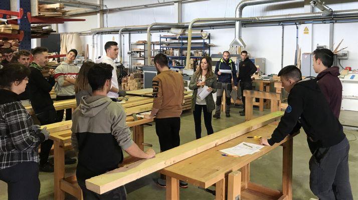 Alumnos del Pico Frentes en una visita al Cesefor. /FC