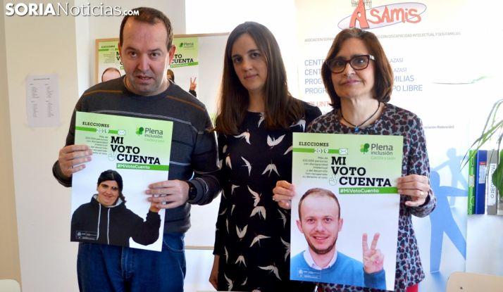 Jaime Enciso, Jimena de Miguel y Anuncia Izuel este jueves en Asamis. /SN