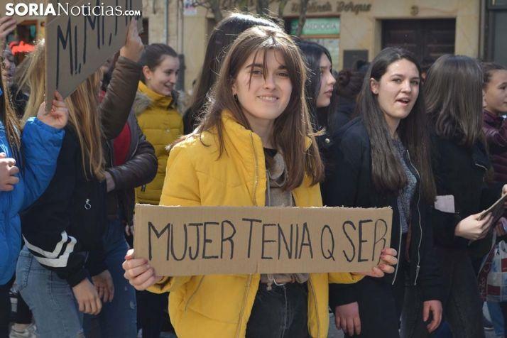 Alumna durante la manifestación estudiantil.