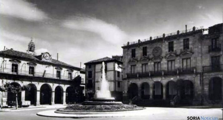 Imagen antigua de la plaza Mayor.