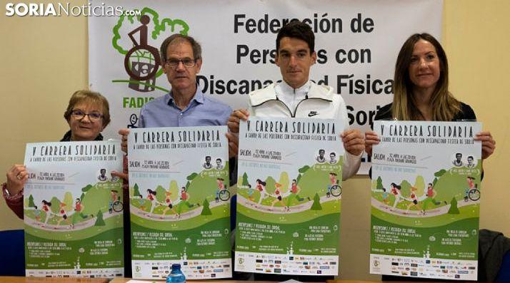 Soria vuelve a correr por la visibilización de la discapacidad. /Jasmín Malvesado