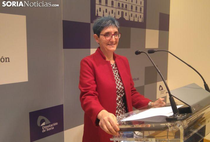 Pilar Delgado durante la rueda de prensa.