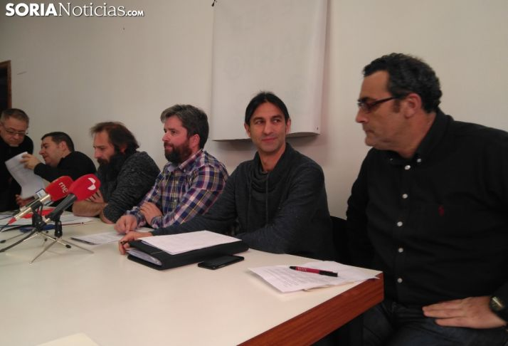 Rueda de prensa del Comité de Empresa del Ayuntamiento de Soria.