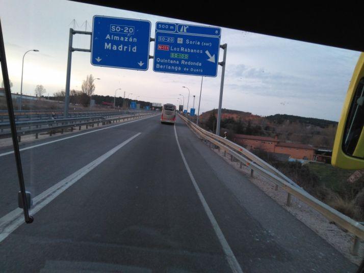 Soria parte dirección Madrid.