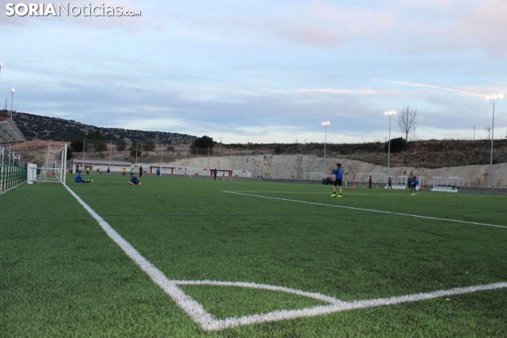 Primera sesión de entrenamiento en el nuevo José Andrés Diago. SN