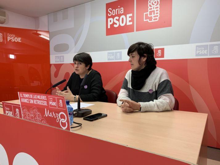 """Foto 1 - El PSOE  Soria llama a la movilización el 8 de marzo con el lema """"El tiempo de las mujeres, un avance sin retroceso"""""""