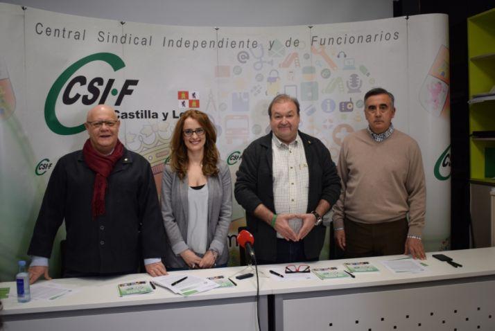 Juan Carlos Gutiérrrez , Isabel Madruga, Carlos Hernando y Juan Carlos Prieto.