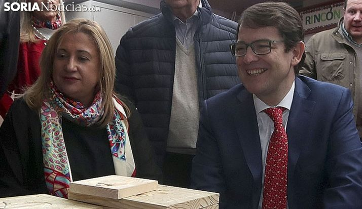 De Gregorio y Mañueco en una visita a Asovica en noviembre pasado. /SN