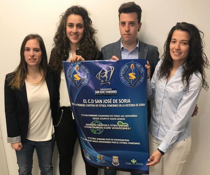María Uriel, Milena Cruz, Dani Salazar y Bea Villar, al frente de la cantera femenina del CD San José.