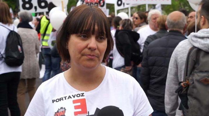 Vanessa García, en declaraciones a los medios.
