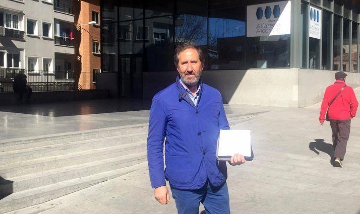 Alberto Gómez, en la localidad madrileña. /Rebi