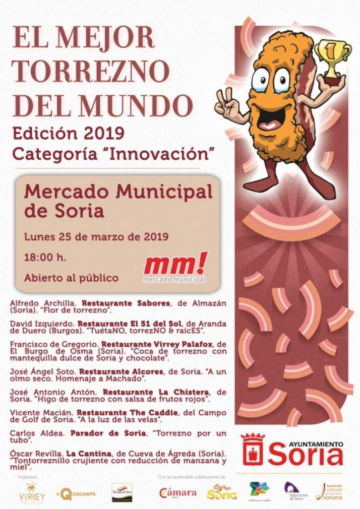 Cartel de 'El Mejor Torrezno del Mundo' en la categoría 'Innovación'.