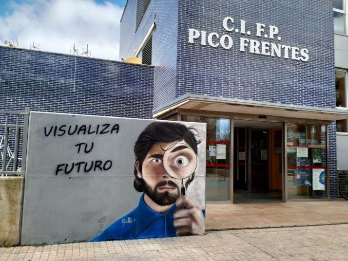 David Gatta trabajando para el Pico Frentes. CIFP Pico Frentes