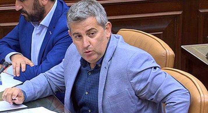 Javier Antón en una intervención parlamentaria.