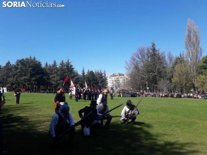 Una imagen de la escenificación este sábado en la Dehesa. /M-Audiovisuales