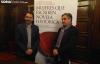 Javier Muñoz y José Luis Corral en la presentación de la III Semana de la Novela Histórica.