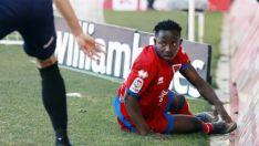 Yaw Yeboah, sobre el verde en Los Pajaritos. LaLiga