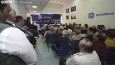 Una imagen del acto celebrado en la sede del PP soriano. /SN