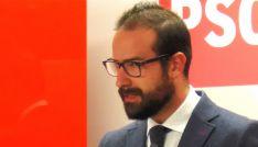 Ángel Hernández, procurador socialista soriano en rueda informativa.