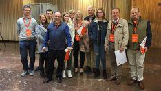 Los candidatos de Cs, en el ayuntamiento de la capital para depositar su voto en grupo.