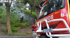 Un conato de incendio en las laderas del Castillo, en la capital, en junio pasado. /SN