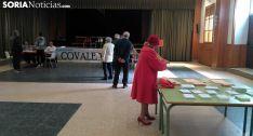 Imagen del colegio electoral de Covaleda esta mañana. /SN
