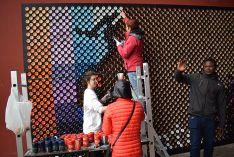Foto 6 - 2.500 latas para elaborar un mural en el Centro Cívico Bécquer