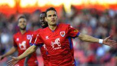 David Rodríguez marcó de penalti la pasada jornada (2-0) ante el Granada en Los Pajaritos. LaLiga