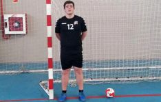 El joven jugador, de la cantera del club soriano. /BM Soria