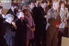 El obispo de Osma-Soria (2º izda.) en la inauguración. /SN