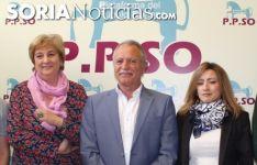 María Jesús Ruiz, José Antonio de Miguel y Ana Fernández en una imagen de archivo.