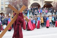 Viernes Santo en Soria. Procesión del Santo Entierro de Cristo. SN