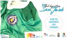 En forma de taller, el CD San José lanza la campaña 'Por un deporte sin género'. CD San José