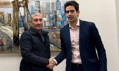 Sergio Cabrerizo, director de Soria Futuro (dcha.), con un responsable de Herove. /SF