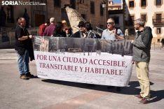 Concentración de Soria en Común en San Juan de Rabanera.