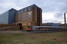 Acceso del hospital de Soria.