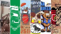 Banderines de las peñas para las Fiestas de San Juan 2019