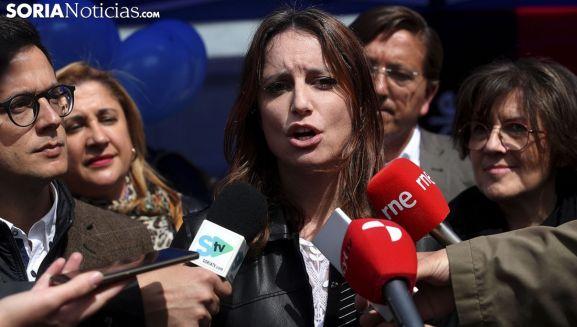 Una imagen de Andrea Levy este miércoles en Soria. /SN