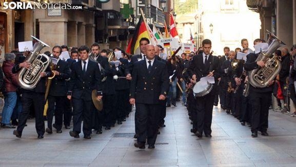 La Banda, en un recorrido por las calles de Soria. /SN